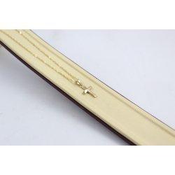 Златно колие с кръст за кръщене 4603