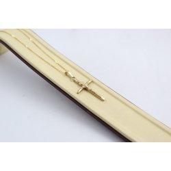 Златно колие с кръст за кръщене 4604