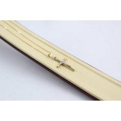 Златно колие с кръст за кръщене 4605