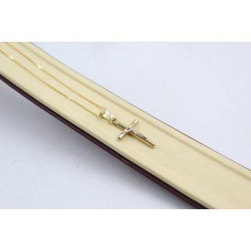 Златно кръстче за кръщене с верижка 4605