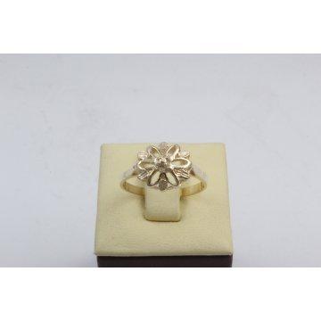 Дамски златен пръстен Корона Мини ретро модел жълто злато 4611