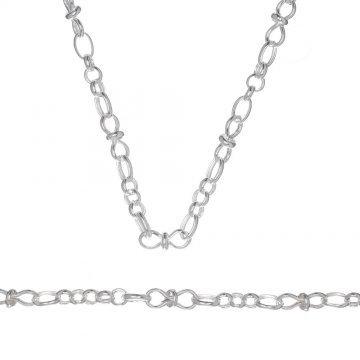 Дамски сребърен комплект колие и гривна 4618