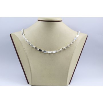 Сребърна верижка с класическа плетка 4622