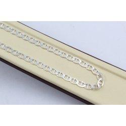 Сребърна верижка класическа плетка барлъ 4624