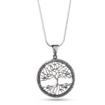 Дамско сребърно колие Дървото на Живота 4632