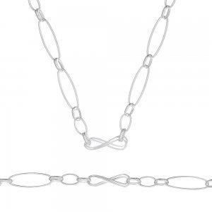 Дамски сребърен комплект Безкрайност колие гривна 4650