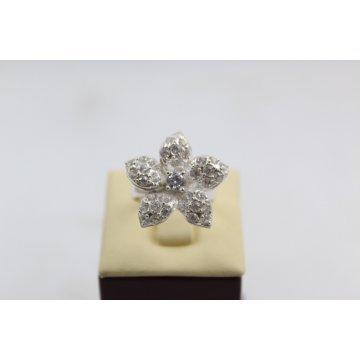 Дамски сребърен пръстен 4534