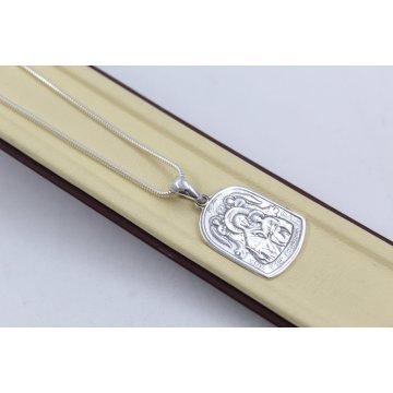 Дамско сребърно колие Богородица 4751