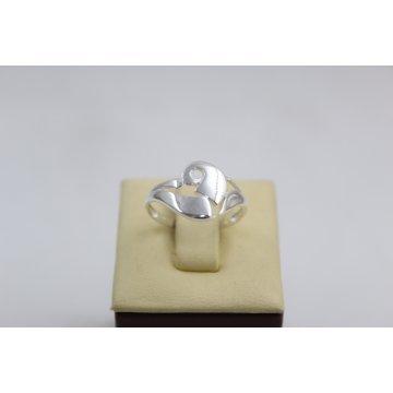 Дамски сребърен пръстен без камъни 4756