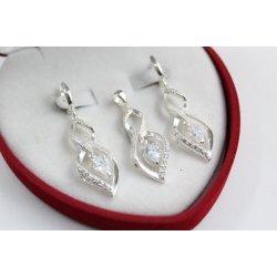Дамски сребърен комплект обеци медальон 4767