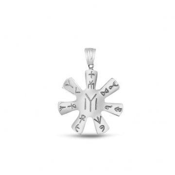 Дамски сребърен медальон Розетата от Плиска 477