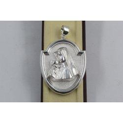 Дамски сребърен медальон Богородица 478