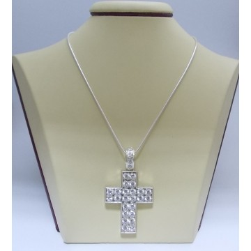 Сребърен медальон - Кръст