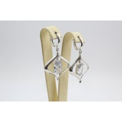 Дамски сребърни висящи обеци 3634