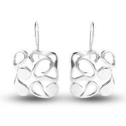 Дамски сребърни висящи обеци 4957