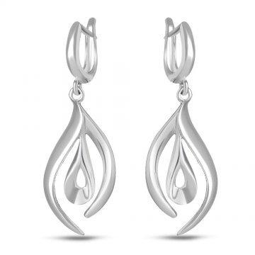 Дамски сребърни висящи обеци 4969