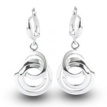 Дамски сребърни обеци 4974