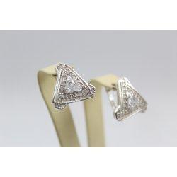 Дамски сребърни обеци бели камъни 4998