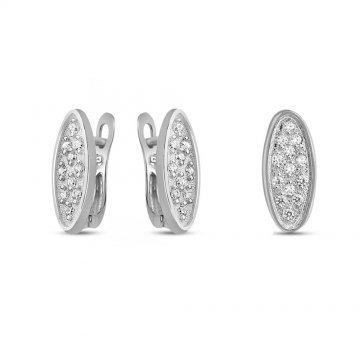 Дамски сребърен комплект с бели камъни 4626