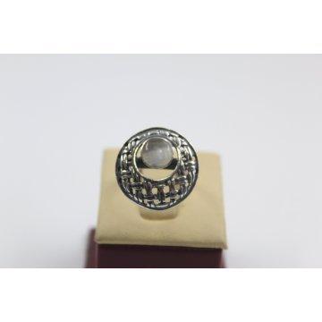Дамски сребърен пръстен с естествен камък котешко око 5074