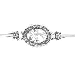 Дамска сребърна гривна Дървото на Живота тъмно сребро 5078