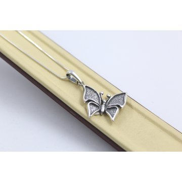 Дамско сребърно колие Нощна Пеперуда 5111