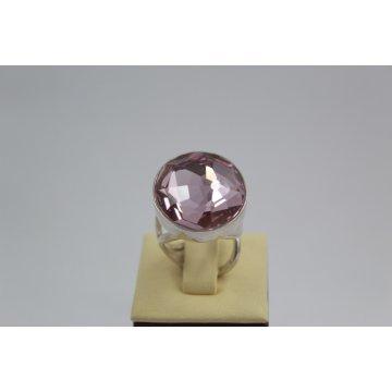 Сребърен пръстен със Swarovski Elements Разкош Бледа Роза 527