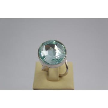 Сребърен пръстен със Swarovski Elements Разкош Азур 531
