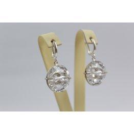 Сребърни обеци със Swarovski Elements Crystal 538