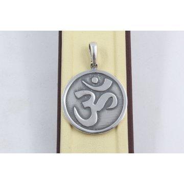 Сребърен медальон Знакът Ом 594
