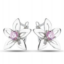 Дамски обеци Кристална Прелест с розови камъни 670