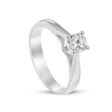 Дамски сребърен годежен пръстен 676
