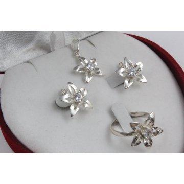 Дамски сребърен комплект - Кристална Прелест 677