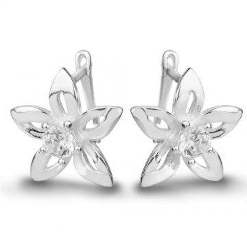 Дамски сребърни обици - Кристална Прелест 678