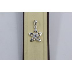 Дамски сребърен медальон Кристална Прелест 679