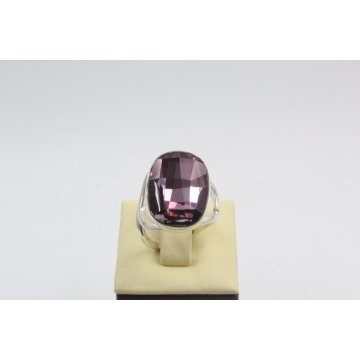 Сребърен дамски пръстен със Swarovski Elements Лила 752