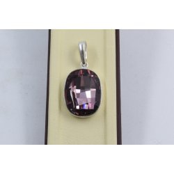 Сребърен дамски медальон със Swarovski Elements Лила 751