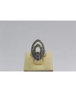 Дамски сребърен пръстен с маркезити 794