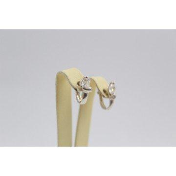 Дамски сребърни обеци Кристалин бели циркони2848