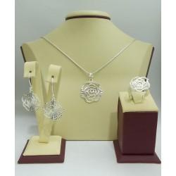 Дамски сребърен комплект Розалин