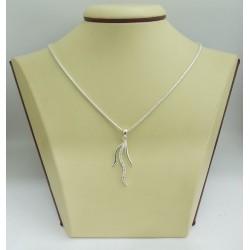 Дамски сребърен медальон Сребърни Лъчи