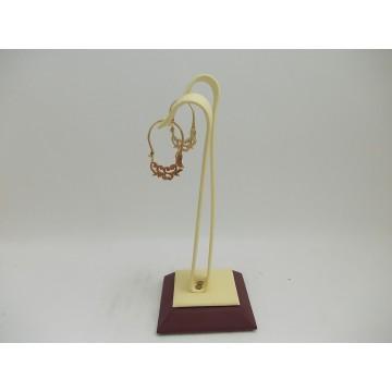 Дамски златни обеци кошнички 2413