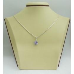 Дамски сребърен медальон Криста Виолет