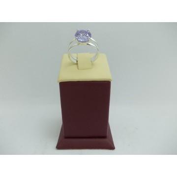 Дамски сребърен пръстен Криста Виолет