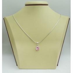 Дамски сребърен медальон Криста Розов 2442