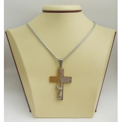 Стоманен медальон кръст 2516