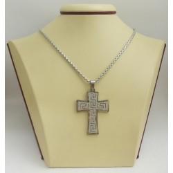 Стоманен медальон кръст 2517