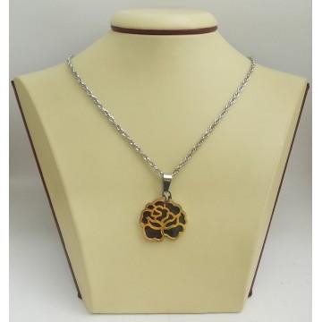 Стоманен медальон цвете 2529