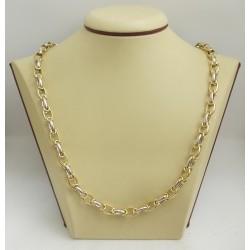 Златна верижка жълто и бяло злато 2680