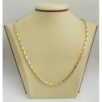 Златна верижка жълто и бяло злато 2686